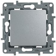 Переключатель проходной одноклавишный алюминий Legrand Etlka 672405