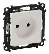 Розетка электрическая без заземления со шторками, автоматические клеммы, белый, Legrand Valena Life (753016/754970)