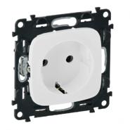 Электрическая розетка без заземления с защитными шторками, автоматические клеммы, белый, Legrand Valena Allure (753016/754975)