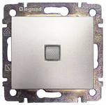 Выключатель 1-клавишный Legrand Valena Алюминий с подсветкой 770110