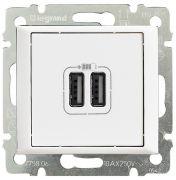Розетка USB двойная Legrand Valena Белая 770470