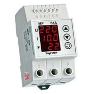 Реле напряжения с контролем тока и мощности  63A однофазное (3 мод.) DigiTop