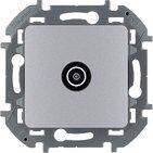 Розетка ТВ проходная, 14 дБ, 5-862 мГц - алюминий INSPIRIA 673862