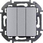 Выключатель 3 кл, 10 AX, 250 В - алюминий INSPIRIA 673642
