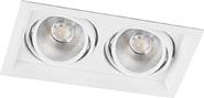 Карданный светильник, 2x12W, 2160 Lm, 4000К, 35 градусов, AL202 - белый, Feron