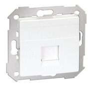 Simon 82 Лицевая панель адаптера на 1 место RJ-45 АМР (белый)