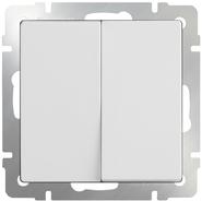Выключатель проходной 2 кл, WL01-SW-2G-2W - белый, Werkel