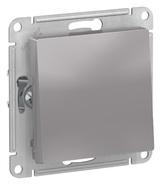 Переключатель 1 кл, сх.6, 10АХ, механизм - алюминий, Schneider Atlas Design