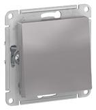 Выключатель 1 кл, сх.1, 10АХ, механизм - алюминий, Schneider Atlas Design
