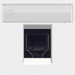 Розетка интернет RJ45 CAT5 - альпийский белый, ABB Zenit (N2218.1 BL + 2018.5)