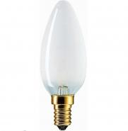 40W E14 PHILIPS Свеча матовая декоративная (лампа накаливания) ДС 40вт B35 230в E14 (01133650М)