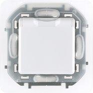 Розетка влагозащищенная, с заземлением, крышкой, шторками, IP 44 16 А, 250 В - белый INSPIRIA 673740