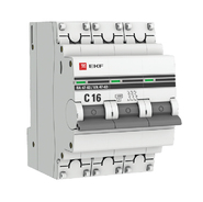 Автоматический выключатель 3P C16 EKF PROxima ВА 47-63