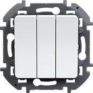 Выключатель 3 кл, 10 AX, 250 В - белый INSPIRIA 673640