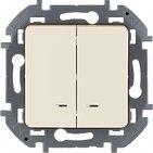 Выключатель 2 кл с подсветкой, 10 AX, 250 В - слоновая кость INSPIRIA 673631