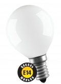 60W E14 Шар матовый декоративный (лампа накаливания) ДШ 60вт Р45 230в Е14 (94317 NI-C)