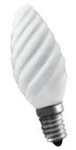 40W E14 Свеча витая матовая декоративная (лампа накаливания) ДС 40вт B35 230в Е14 (94330 NI-TC)