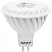 Лампа светодиодная (холодный), 7вт 230в GU5.3 4000K, Navigator (94351 NLL-MR16)