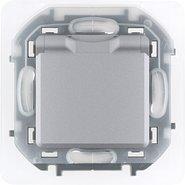 Розетка влагозащищенная, с заземлением, крышкой, шторками, IP 44 16 А, 250 В - алюминий INSPIRIA 673742