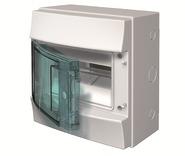 Бокс IP65 настенный 8 мод, влагозащищенный, серый, прозрачная дверь, с клеммами ABB Mistral IP65