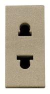 Розетка без заземления (узкая, 1 модуль) 16А - шампань, ABB Zenit (N2135 CV)