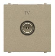 Розетка ТВ одиночная - шампань ABB Zenit (N2250.7 CV)