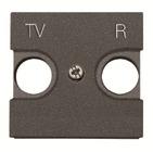 Лицевая панель для TV-R розеток - антрацит, ABB Zenit (N2250.8 AN)