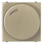 Cветорегулятор поворотно-нажимной для регулируемых LED ламп, 2-100 Вт - шампань, ABB Zenit (N2260.3 CV) NNN