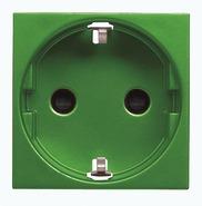 Розетка с заземлением, шторками для специальных сетей 16А 250В - зеленый, ABB Zenit (N2288 VD)