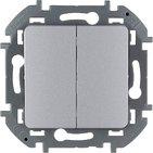 Выключатель 2 кл, 10 AX, 250 В - алюминий INSPIRIA 673622