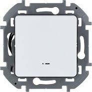 Выключатель 1 кл с подсветкой, 10 AX, 250 В - белый INSPIRIA 673610