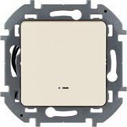 Выключатель 1 кл с подсветкой, 10 AX, 250 В -  слоновая кость INSPIRIA 673611