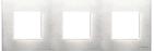 Рамка 3 поста - натуральная сталь, Zenit ABB (N2273 OX)