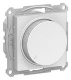Светорегулятор поворотно-нажимной 630Вт - белый, Schneider Atlas Design