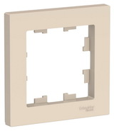 Рамка 1 пост - бежевый, Schneider Atlas Design