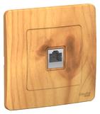 Розетка компьютерная RJ45, скрытой установки ясень BLANCA (BLNIS045005)