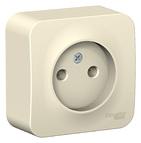 Розетка без заземления без шторок, 16А, 250В, наружная молочный BLANCA (BLNRA000102)
