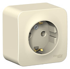 Розетка с заземлением без шторок, 16А, 250В, наружная молочный BLANCA (BLNRA010102)