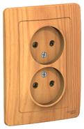 Розетка двойная без заземления без шторок, 16А, 250В, скрытой установки ясень BLANCA (BLNRS000025)