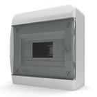 Tekfor бокс 8 модулей накладной IP40 прозрачная черная дверца, 218х240х102
