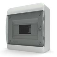 Tekfor бокс 8 модулей накладной IP40 прозрачная черная дверца