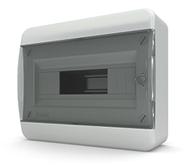 Tekfor бокс 12 модулей накладной IP40 прозрачная черная дверца