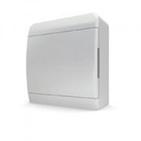 Tekfor бокс 8 модулей накладной IP40 непрозрачная белая дверца,218х240х102