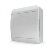 Tekfor бокс 8 модулей накладной IP40 непрозрачная белая дверца.