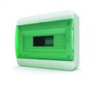 Tekfor бокс 12 модулей навесной IP40 прозрачная зеленая дверца.