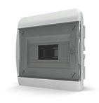 Tekfor бокс 8 модулей встраиваемый IP40 прозрачная черная дверца, 218х240х102