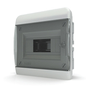 Tekfor бокс 8 модулей встраиваемый IP40 прозрачная черная дверца