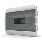 Tekfor бокс 12 модулей встраиваемый IP40 прозрачная черная дверца.