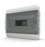Tekfor бокс 12 модулей встраиваемый IP40 прозрачная черная дверца, 290х240х102