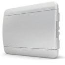 Tekfor бокс 12 модулей встраиваемый IP40 непрозрачная белая дверца.